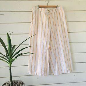a.n.a.-Yellow & White Striped Casual Pants